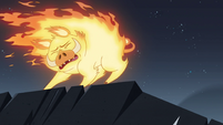 S4E5 Fire demon trying to stop itself