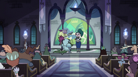 S4E18 Eclipsa holding a knighting ceremony