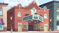 S2E14 Echo Creek movie theater exterior
