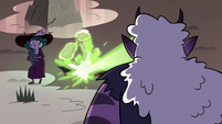 S3E36 Eclipsa Butterfly avoiding Meteora's lasers