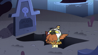 S4E14 Ludo sitting in a shallow grave