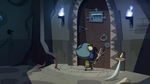 S2E35 Ludo approaching the dungeon door