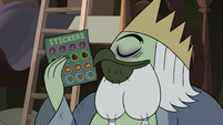 S3E30 Lord Brudo sniffing a sticker