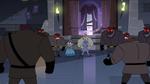 S3E33 Robot guards surrounding the princesses