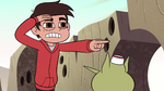 S2E13 Marco Diaz pointing at the VIP line