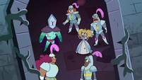 S3E24 Rhombulus and guards looking at Star