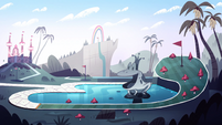 Royal Pain background - Echo Creek mini-golf