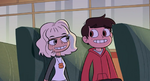 S1E22 Jackie and Marco sit together on the bus