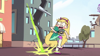 S2E14 Star Butterfly dodging Ludo's raining magic