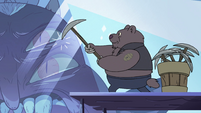 S4E1 Bear monster using a pickaxe