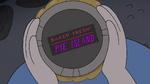 S4E1 Pie Island label on bottom of pie tin