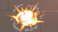 S4E6 Demonfruit explode against the wall