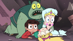 S3E7 Star, Marco, Moon, and Buff Frog look at Toffee