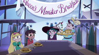 S4E7 Star, Marco, and Eclipsa having breakfast