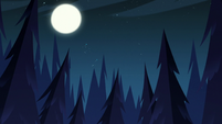 S3E12 Moon shining over the dark forest