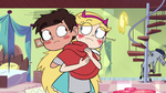 S3E37 Star and Marco hugging and blushing