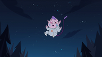 S4E17 Meteora Butterfly giggling in midair