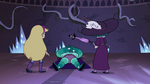 S4E4 Star and Eclipsa stand over Rhombulus
