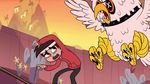 S1E3 Chicken minion attacks Marco