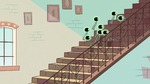 S2E11 Buff Frog's tadpoles run up the stairs
