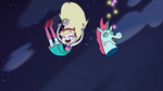 S1e2 pony head and star falling