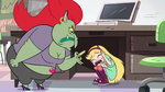 S2E32 Star Butterfly hides under Miss Skullnick's desk