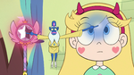 S2E23 Glossaryck points at wand and Star's forehead