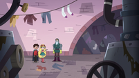 S3E14 Star, Marco, and Lavabo in the laundry room