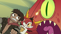 S3E22 Giant squid chasing Adult Marco and Hekapoo