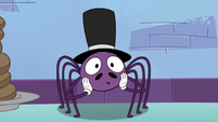 S4E21 Spider With a Top Hat looking surprised