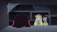 S4E11 Marco Diaz face-down on a shelf