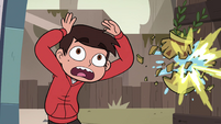 S4E7 Flowerpot shatters next to Marco