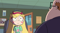 S2E38 Star Butterfly staring at Principal Skeeves
