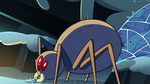 S2E2 Giant spider feeds on Ludo's fish scraps