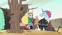 S2E13 Pony Head talks as Star hangs from tree branch