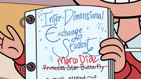 S3E13 Star's exchange student contract with Marco's name