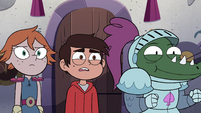 S4E18 Marco and new knights at their party