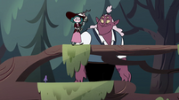 S4E23 Eclipsa and Globgor walk in the woods together