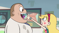 S2E16 Star tosses chewed gum into Serge's mouth