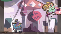S4E1 Fake Star Butterfly destroying stage set