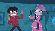 S3E18 Eclipsa imitating Marco's karate pose