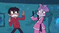 S3E18 Eclipsa imitating Marco's karate pose