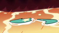 S4E6 Star's broken surfboard in the lava lake