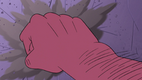 S4E22 Giant hand punches the wall across