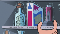 S1E8 Marco straightens his cabinet