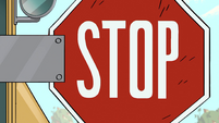 S1E7 School bus STOP sign