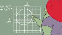 S2E16 Miss Skullnick drawing a vector grid