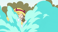 S2E16 Star Butterfly creates a poof of magic smoke