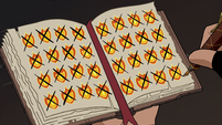 S2E31 Marco crosses out the last two flame marks
