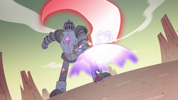 S4E32 Eclipsa blocks Solarian Sword with barrier